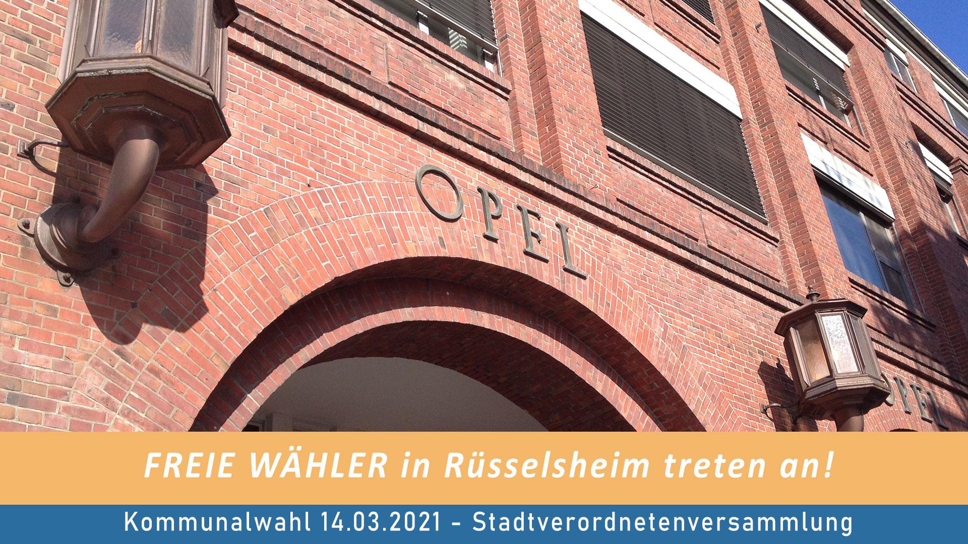 FREIE WÄHLER Rüsselsheim